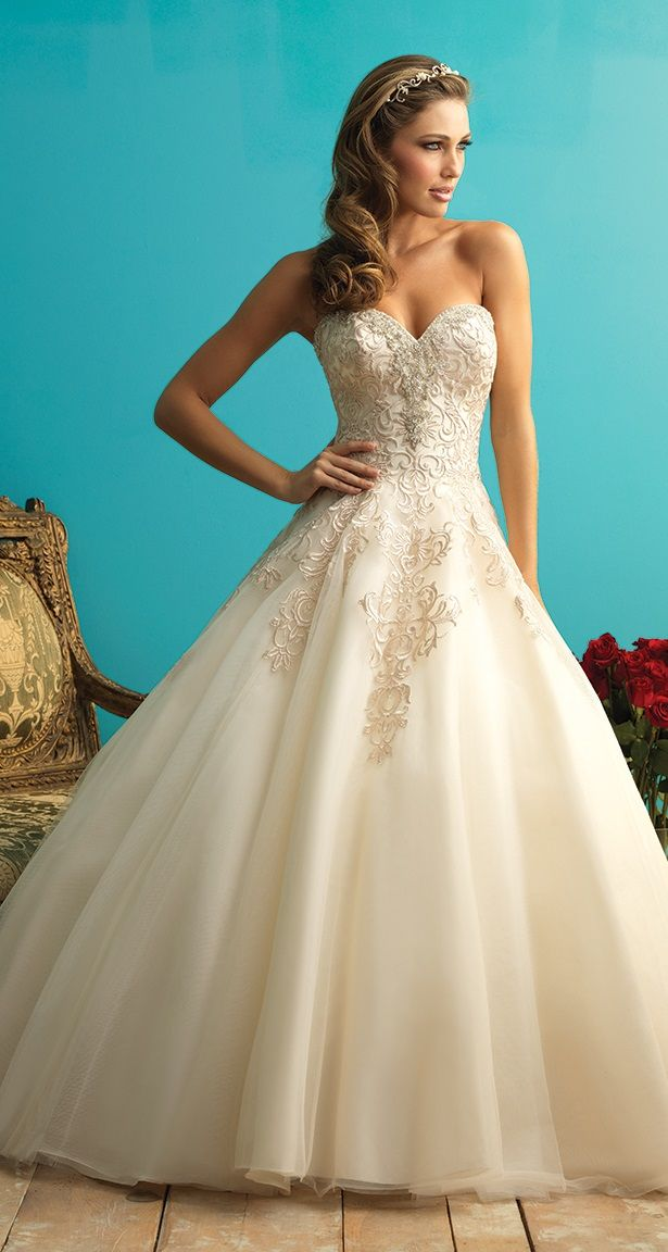 princess wedding dress from Allure Bridal | Disney Princess Wedding ...
