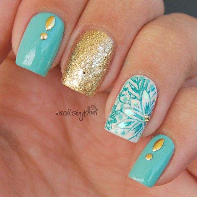 Mint Mani✨ Colors used: Ciaté -Pepperminty Catrice - Stars ...