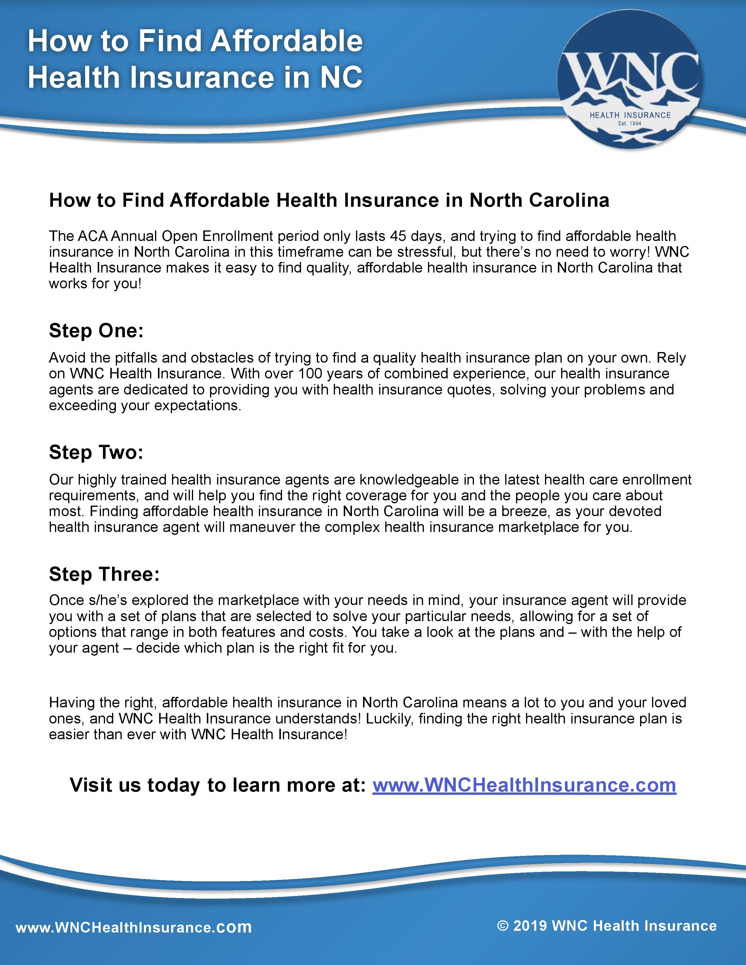 Pin by WNC Health Insurance on North Carolina Health