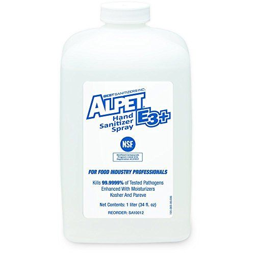 Best Sanitizers Sa10012 Alpet E3 Plus Hand Sanitizer Spray 1000ml
