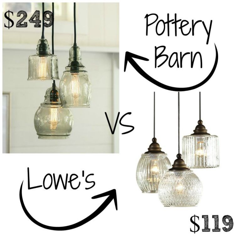 decor look alikes pottery barn paxton glass 3light pendant