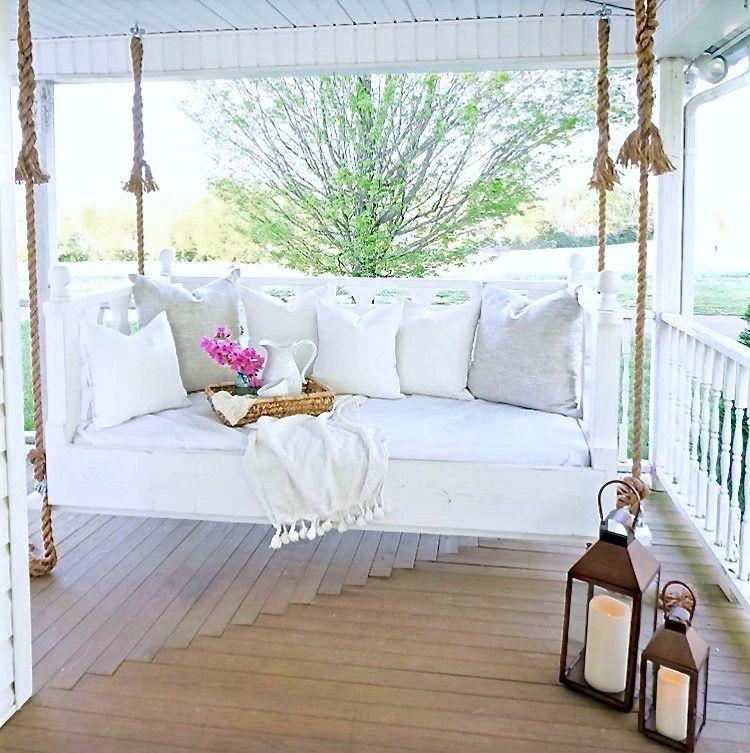 Favorite Etsy Find Jolie Marche Pillows Porch swing