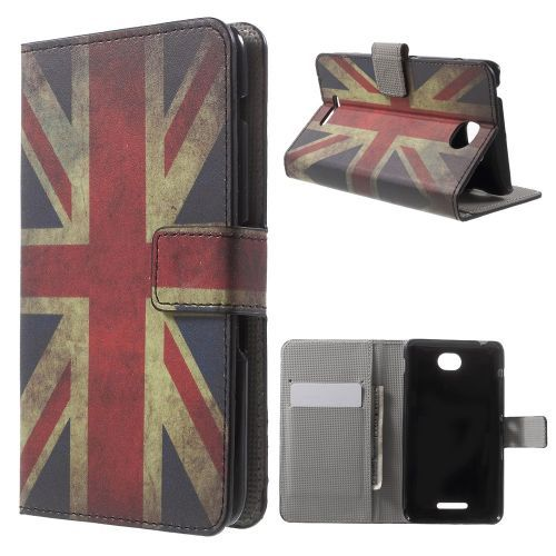 Mesh - Sony Xperia E4 Hoesje - Wallet Case Vintage Britse Vlag | Shop4Hoesjes