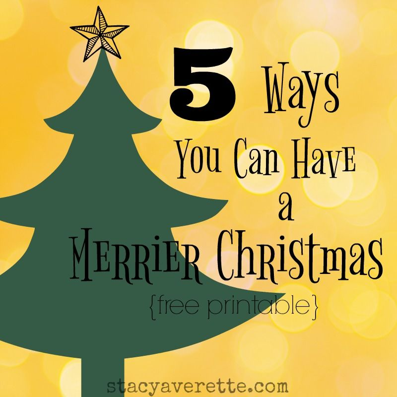 Expectations, family stress, grief, sickness, and financial issues can derail your hopes for the holidays. But a Merrier Christmas is . . .