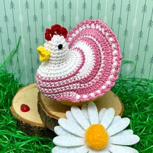Crochet Pattern Decoration Easter Chicken - Eggs cover #eastercrochetpatterns
