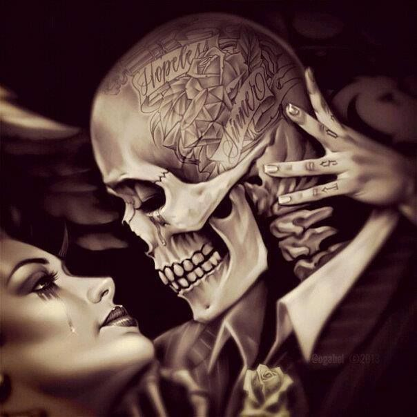 Tattoo Woman Kiss: Pin By Stormy Leigh Jones On Skulls And Souls