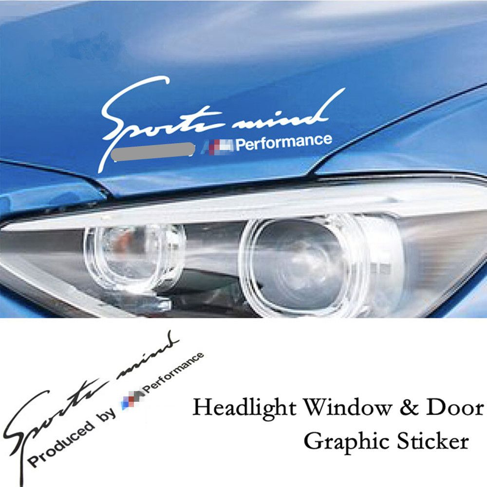 Pcs Sports Mind Produced By M Performance Sports Stickers Car - Window clings for car sports