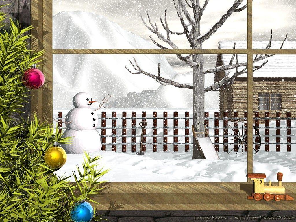 Christmas Scenes From a Window | Xmas Scene Outside A Window ...