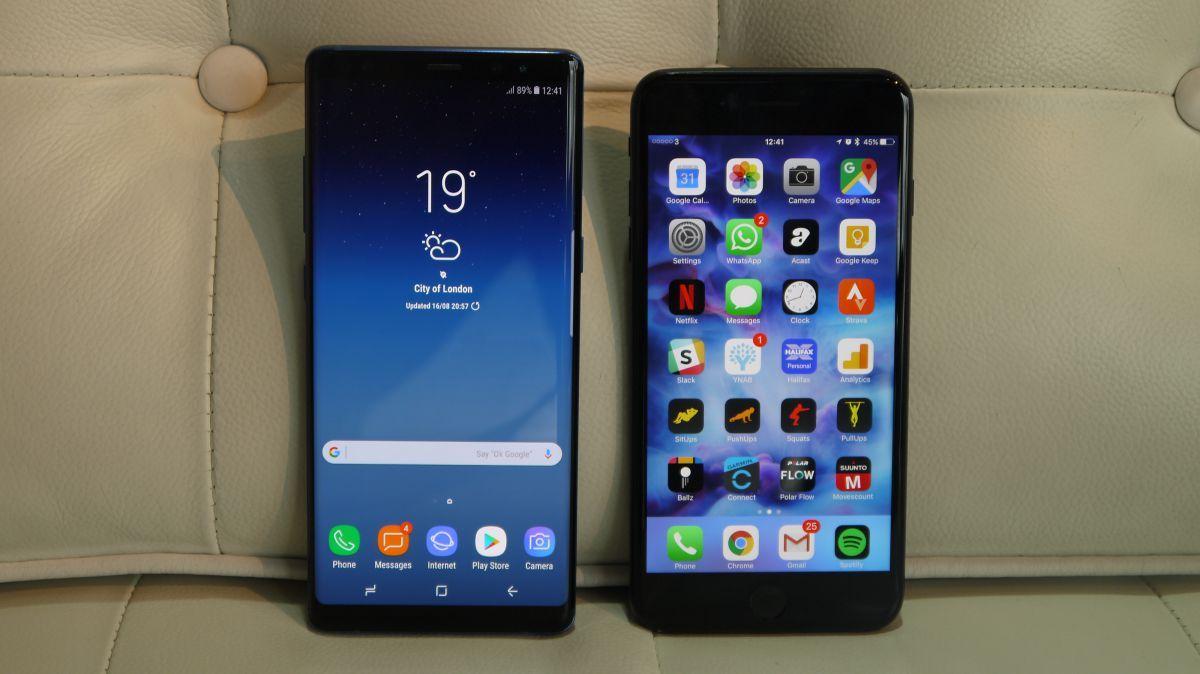 Samsung Galaxy Note 8 Vs Iphone 7 Plus Samsung Galaxy Note 8 Galaxy Note 8 Samsung Galaxy