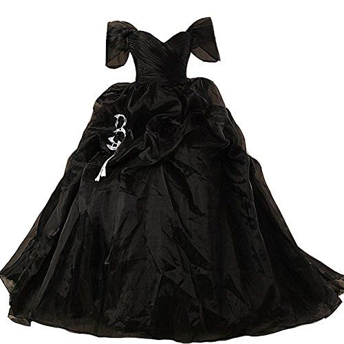 Lemai Vintage Black and White Ball Gown Off Shoulder Gothic ...