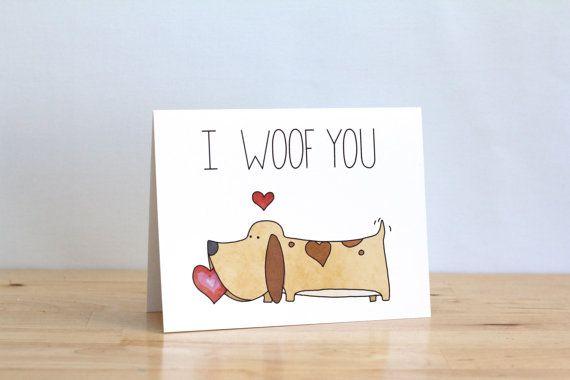 I Woof You Love You Dog Pun Blank Love Funny Cute