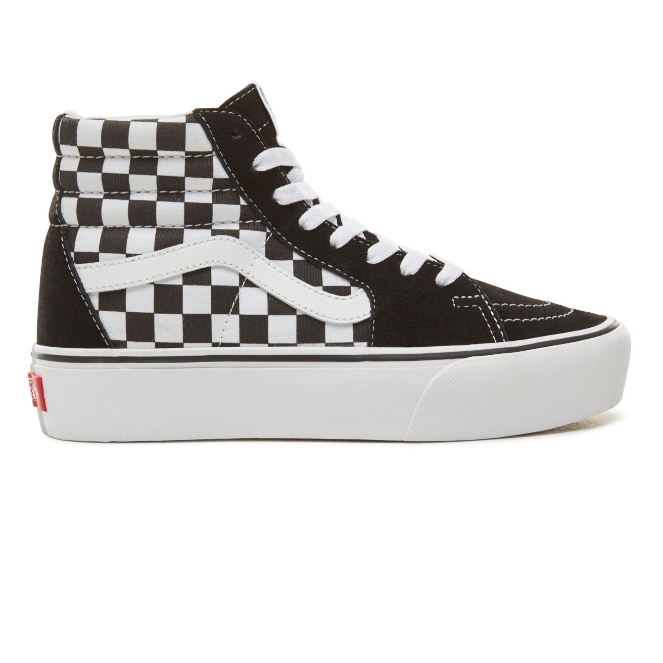 Buy Vans Sk8-Hi Platform 2.0 Checkerboard/True White Shoes ...