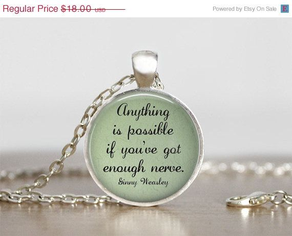 Ginny Weasley Harry Potter Quote Necklace Handmade By My Lil Red