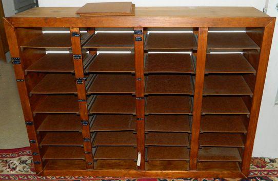 """new"" shelf for craft room storage."