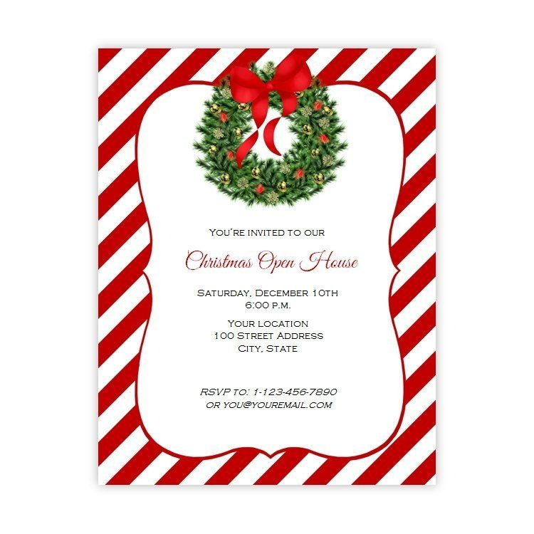 Holiday Wreath Christmas Or Holiday Party Flyer  Full   X