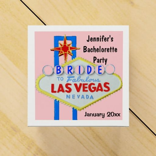 Las Vegas Bachelorette Party Party Favor Box