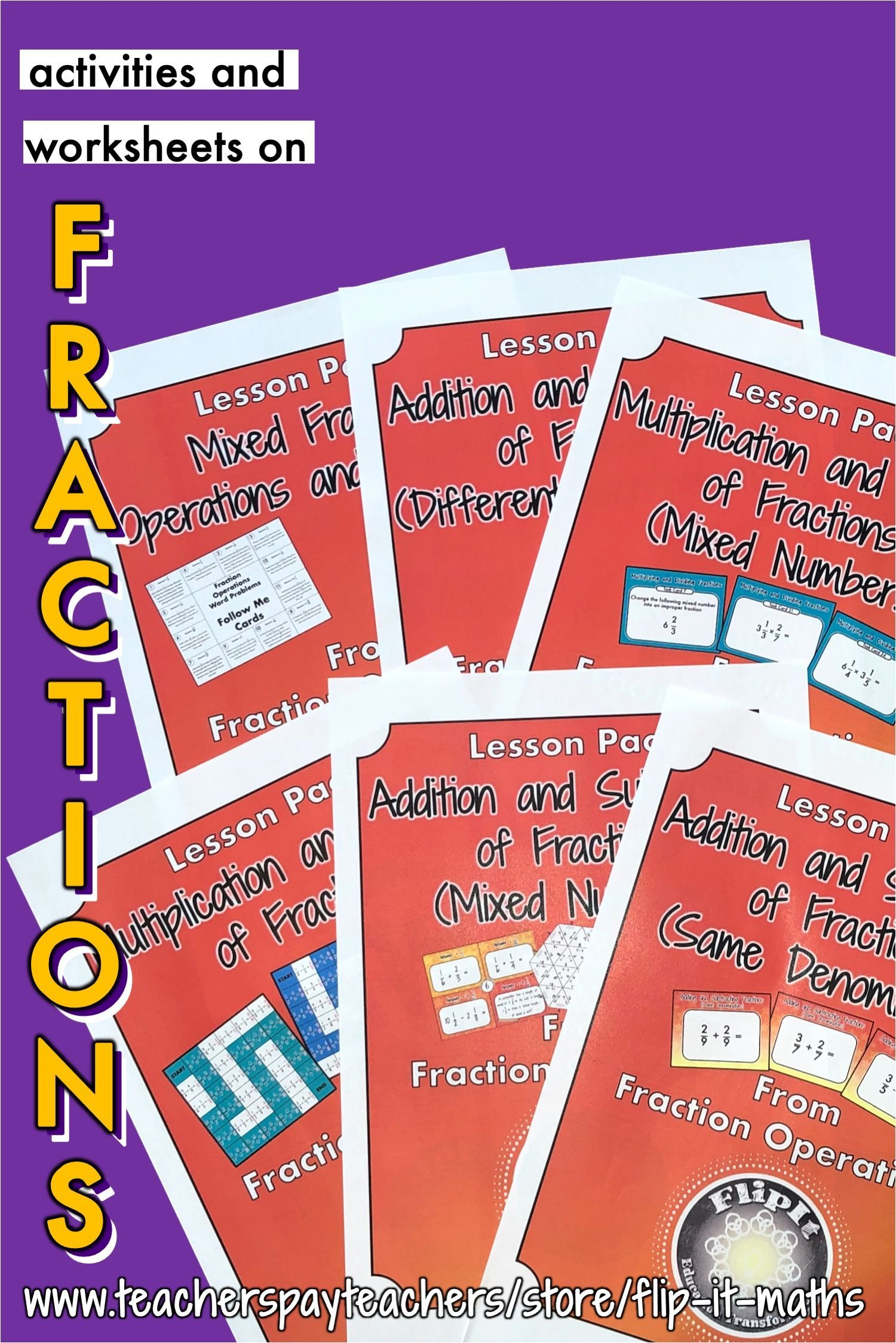 Fraction Operations Bundle In