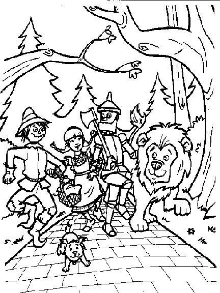 Wizard Of Oz Coloring Pages To Print Personajes Mago De Oz Mago De Oz Dibujos