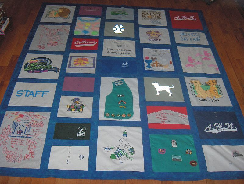 Making a quilt out of T-shirts - How to make a Tee Shirt quilt ... : make a quilt out of shirts - Adamdwight.com