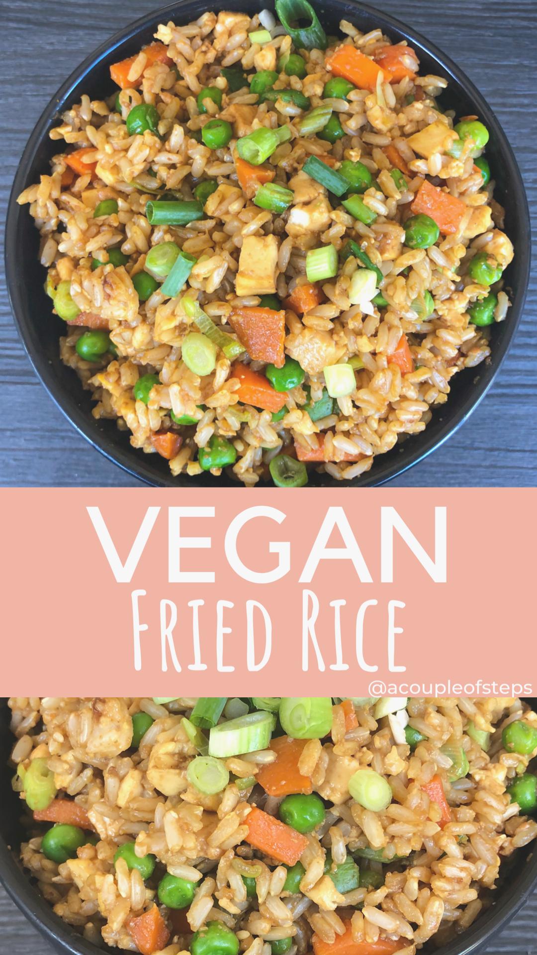 Gesundes veganes Rezept für gebratenen Reis   ein paar Schritte #abendessen #fitness #fitnessabendes...