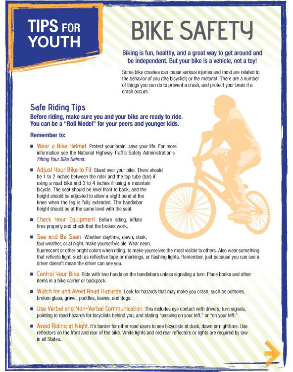 Bicycle Safety Tips For Youth Bike Bicyclesafety Bike Safety