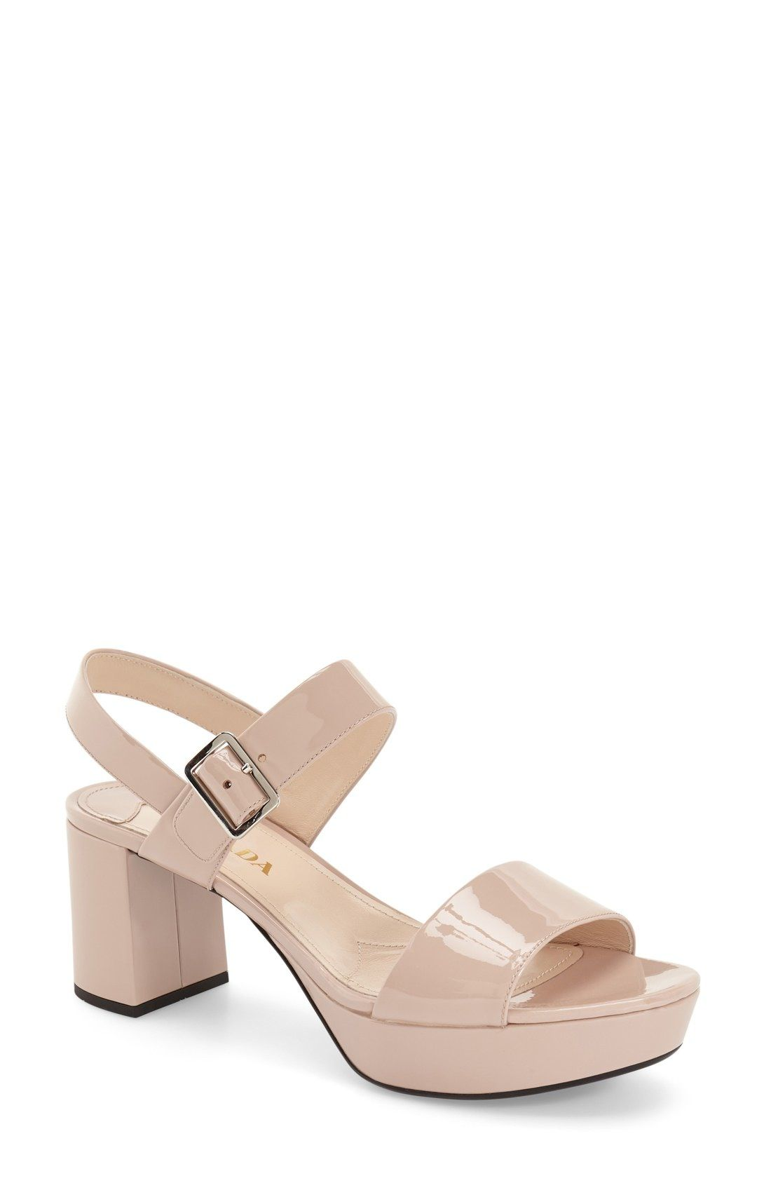 73adc451a9a Prada Block Heel Sandal (Women) available at  Nordstrom