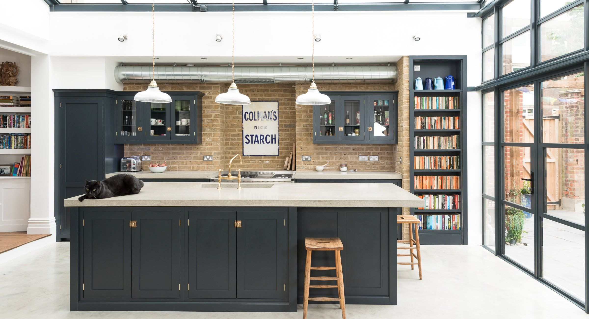 Shaker kitchens by devol handmade painted english for Shaker style kitchen units