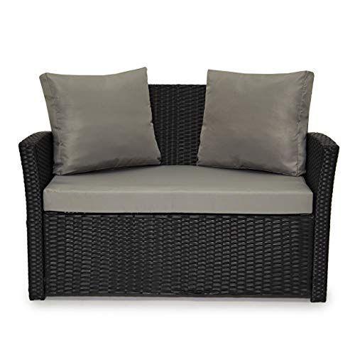 EVRE Roma Rattan Garden Outdoor Indoor Sofa Set Furniture ...