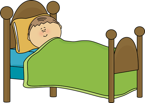 clipart of child's bed child