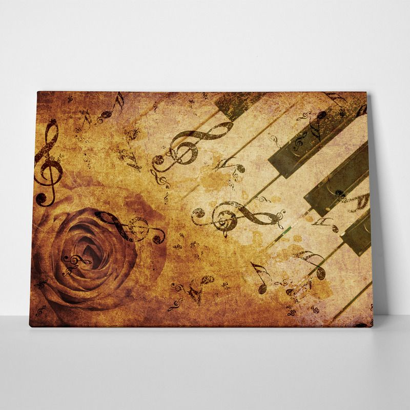 Canvas print piano rose by sticky