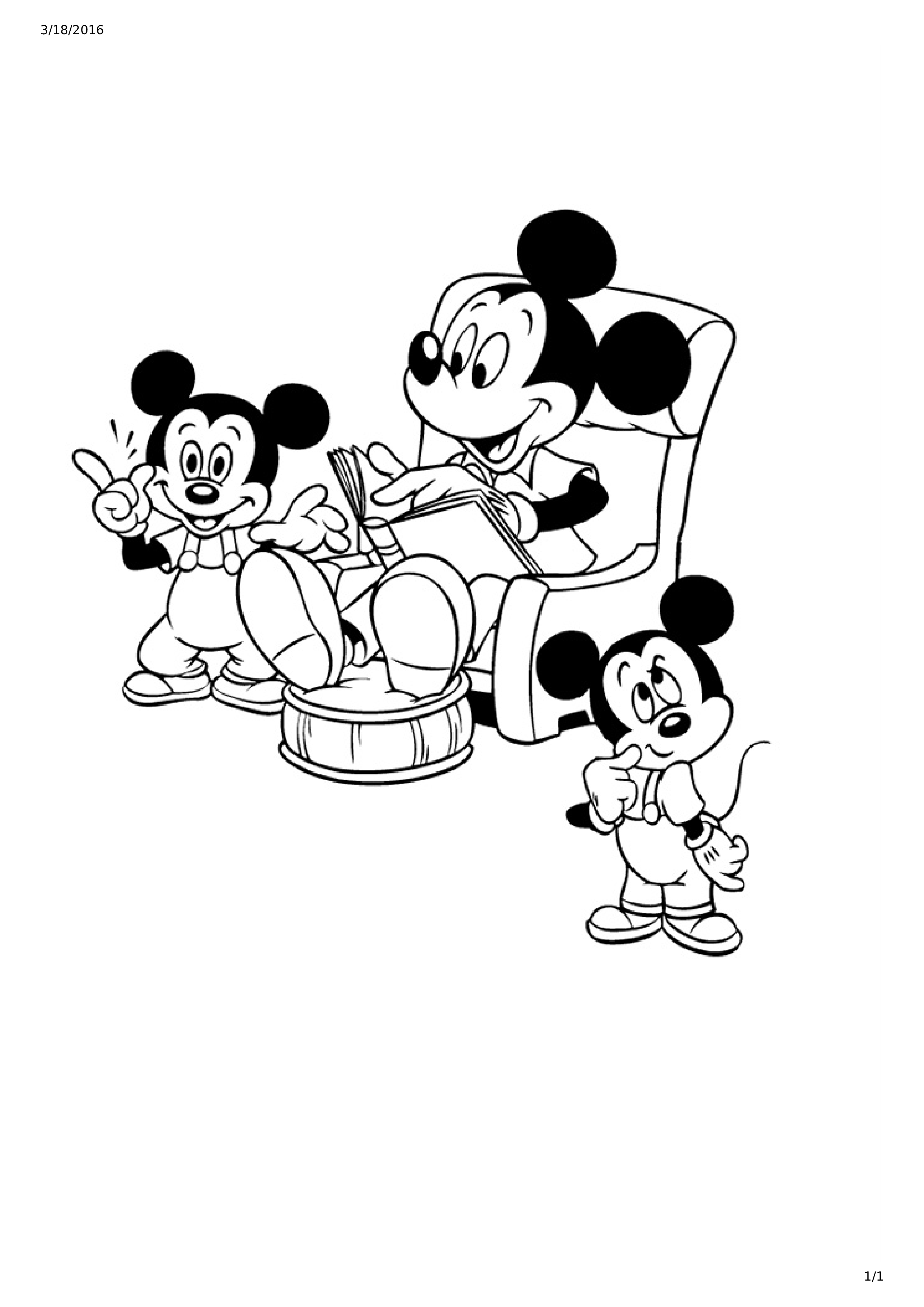 mickey mouse and friends coloring page for kids mickey mouse and