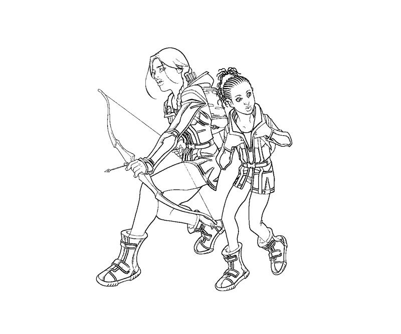 The Hunger Games Hunger Games Coloring Pages Colouring Pages