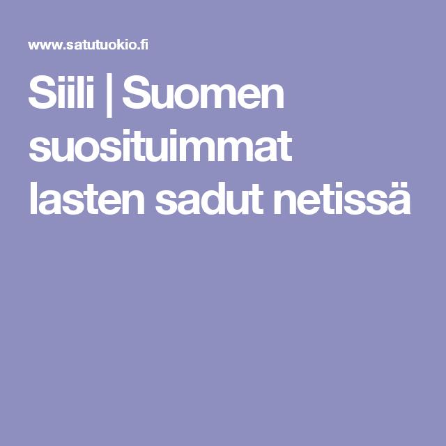 Siili   Suomen suosituimmat lasten sadut netissä