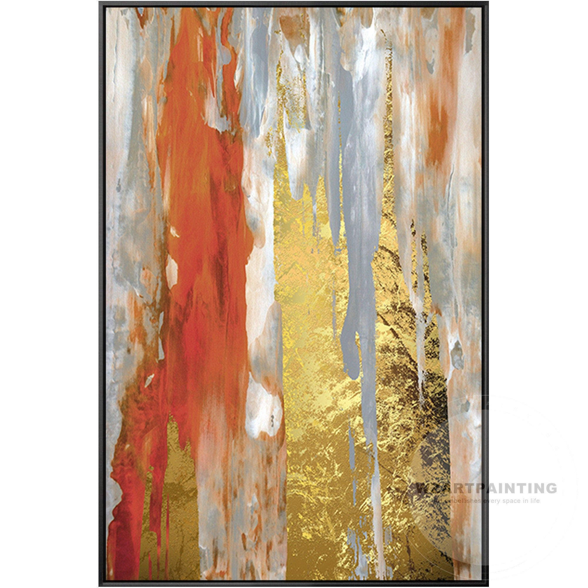 Framed Wall Art Modern Abstract Gold Gray Orange Large Wall Art Print Painting On Canvas Large Wall Cuadros Large Wal Gold Art Print Abstract Wall Art Pictures