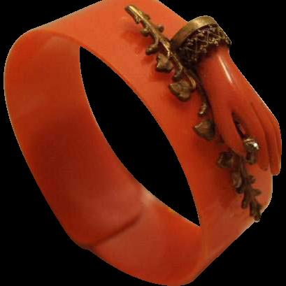 Art Deco C Bakelite Bracelet With