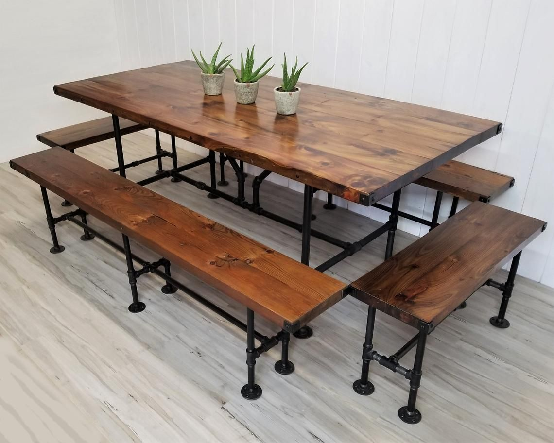 Image 0 Rustic Industrial Furniture Wood Table Rustic Outdoor Dining Furniture