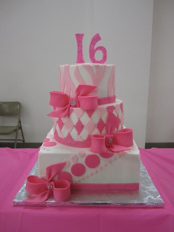 Sweet 16 Cake. Have to make that for Kayleyu0027s Birthday & Sweet 16 Cake. Have to make that for Kayleyu0027s Birthday | CAKES ...