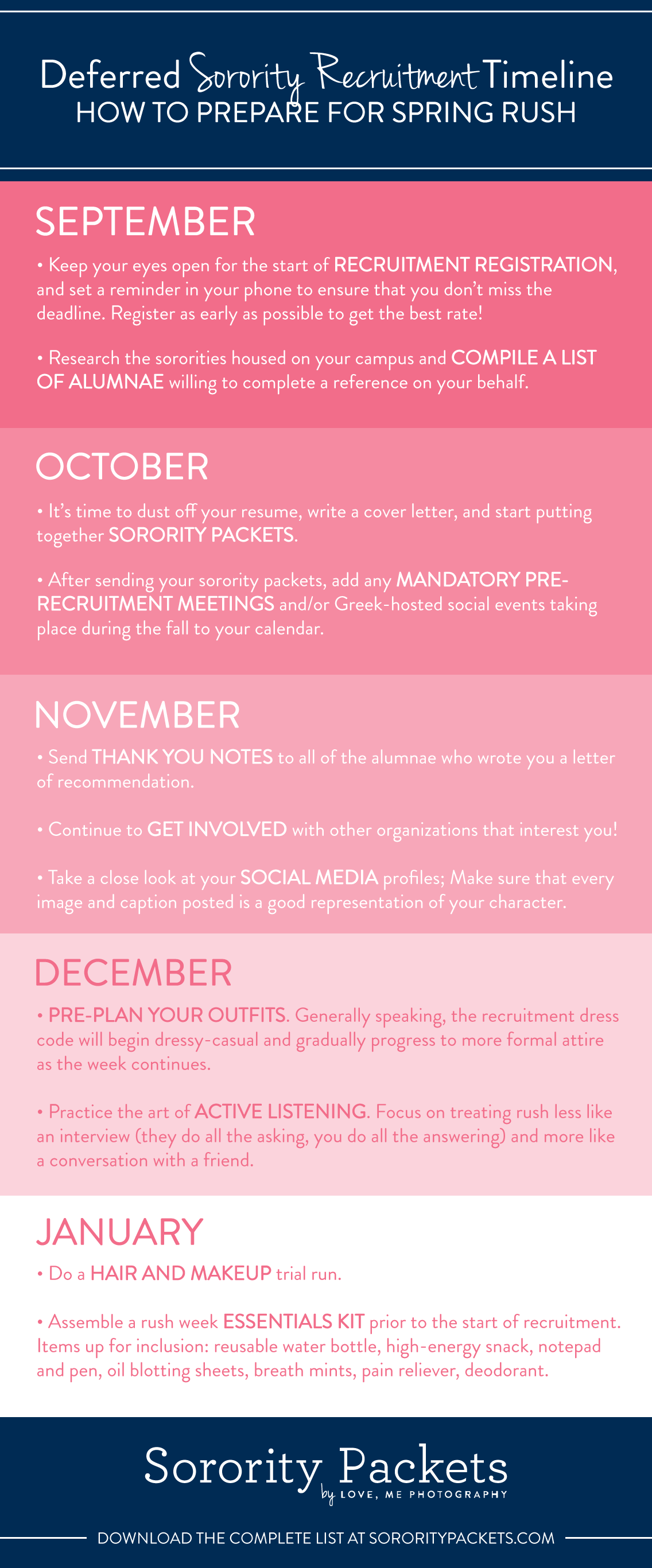 Lets talk about deferred recruitment spring rush prep timeline spring rush prep timeline more information about deferred recruitment rush week conversation tips outfit ideas and advice from current sorority fandeluxe Images