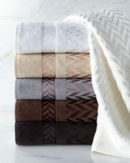 4e5l Austin Horn Classics Chevron Jacquard Towels Towel