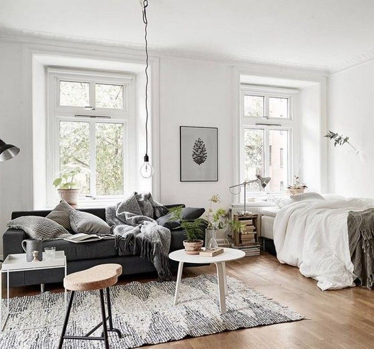 10 Admirable Ideas Of Minimalist And Simple One Room Apartment Page 11 Of 11 In 2020 One Room Flat Studio Apartment Decorating Apartment Room