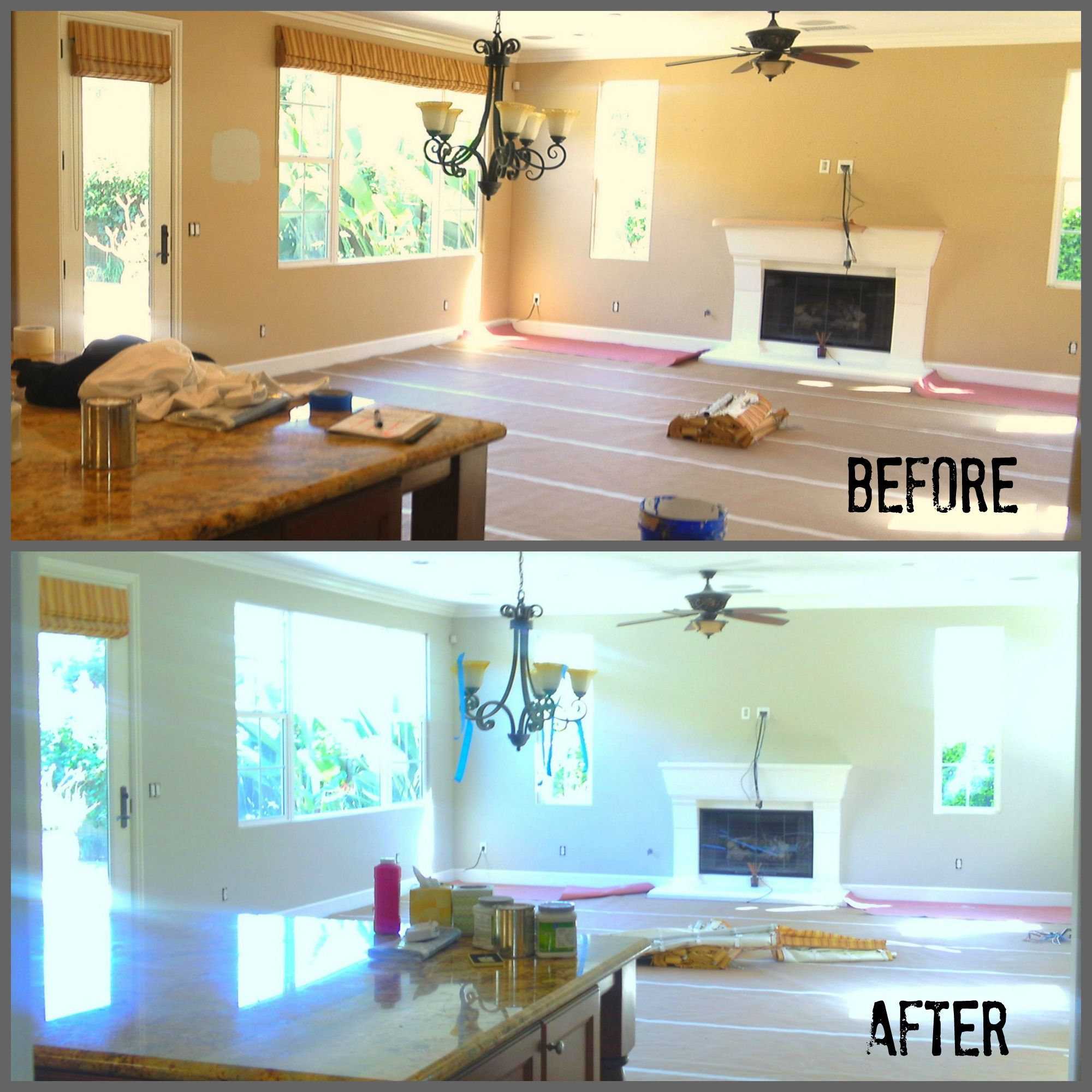 La costa interior repaint by maverick painting san diego - Sherwin williams interior paint finishes ...
