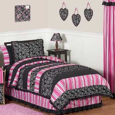Sweet Jojo Designs Madison 4 Piece Twin Comforter Set