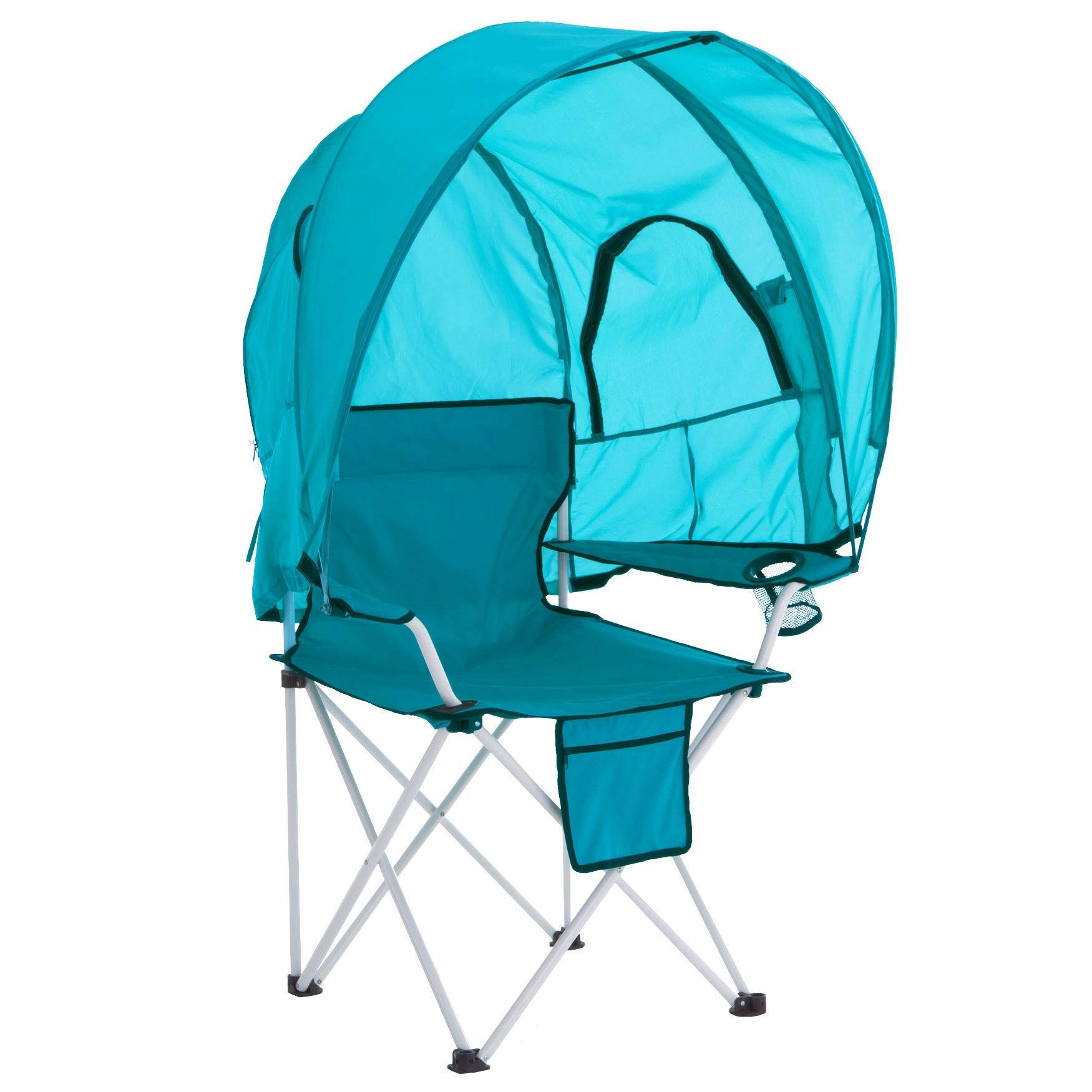 BrylaneHome Camp Chair with Canopy Breeze in 2020