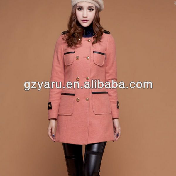 2013autumn winter latest wool coat designs for women