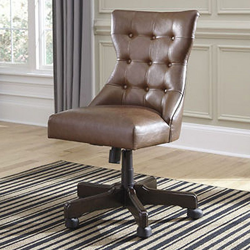 Superb Signature Design By Ashley Button Tufted Faux Leather Home Pdpeps Interior Chair Design Pdpepsorg