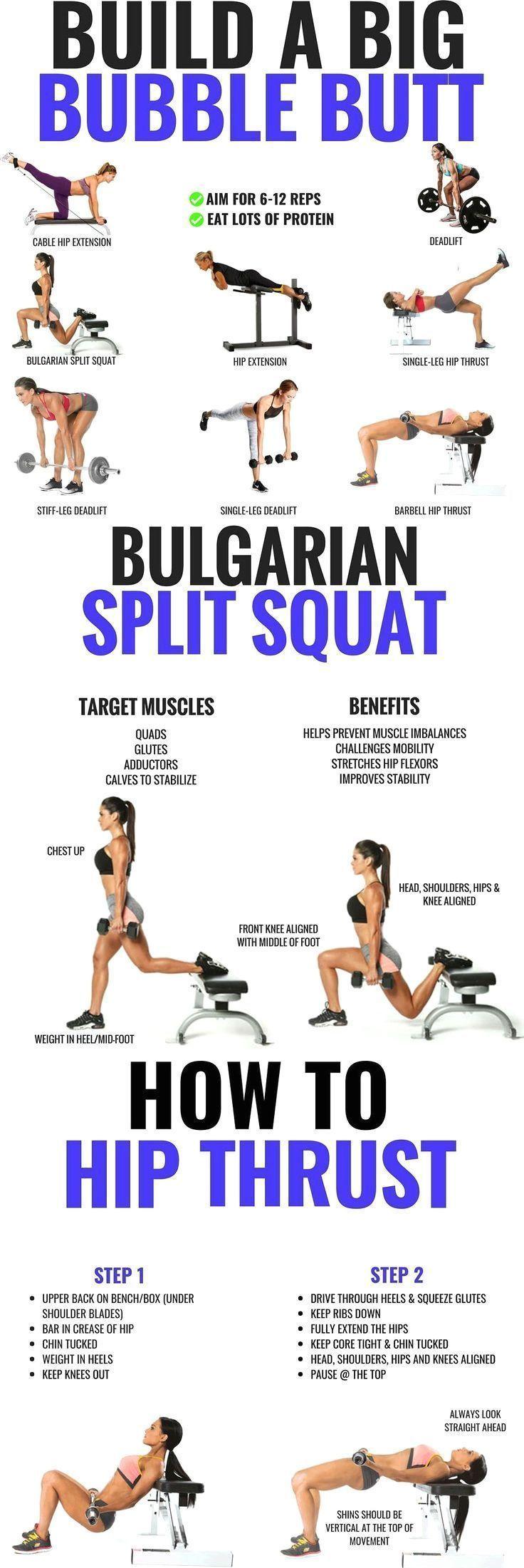 Glutes Workout & Übungen für Frauen – 20 Butt… | Glute Isolationsübungen | …