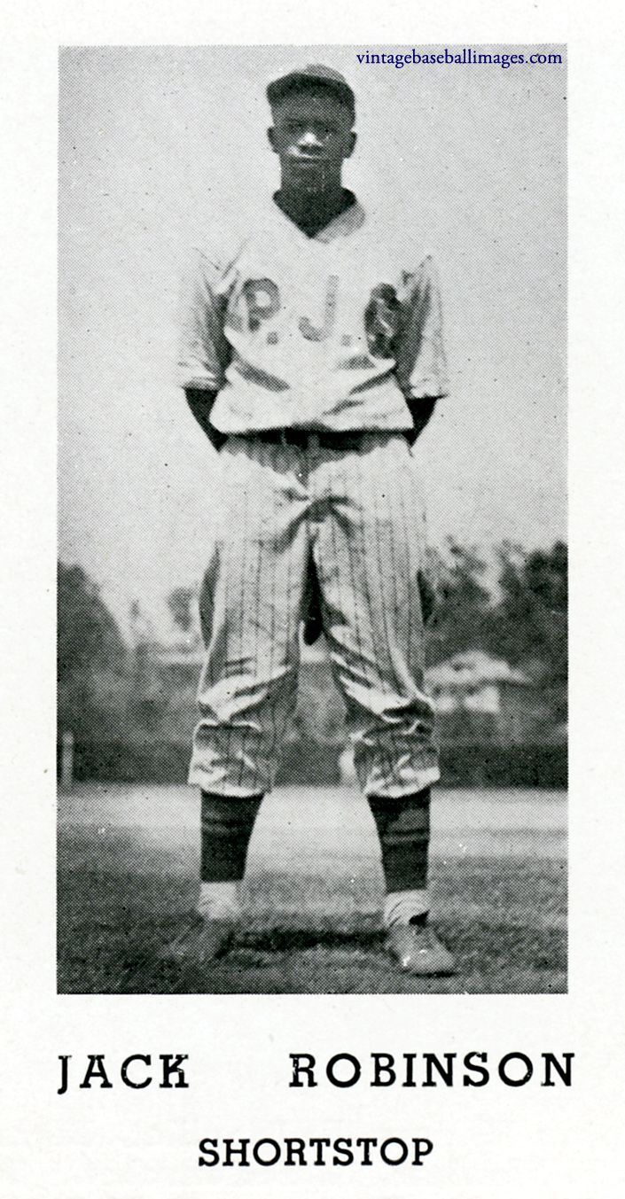 Robinson At Pasadena Junior College College Junior Jackie Robinson Pasadena