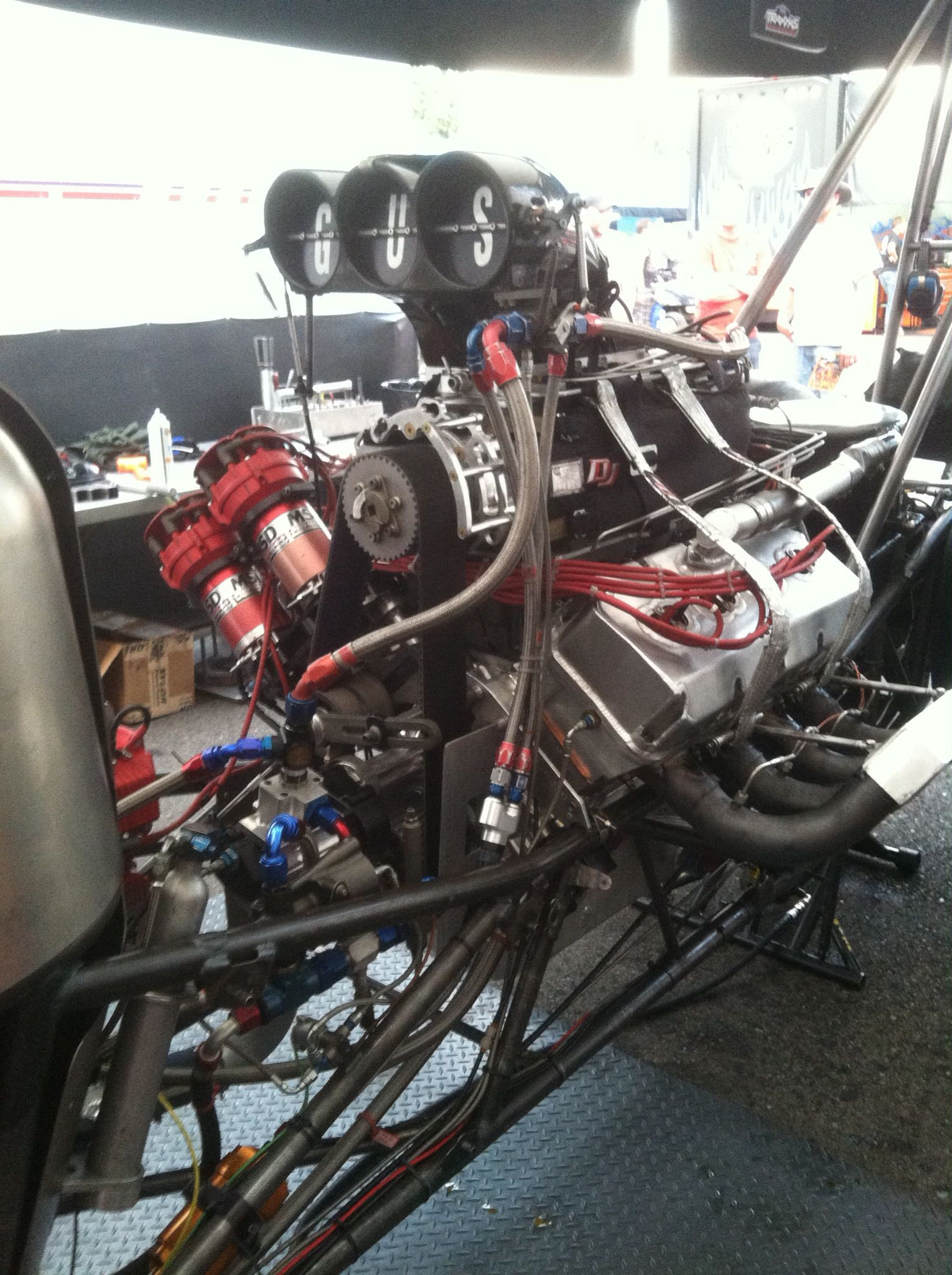 Top fuel dragster engine