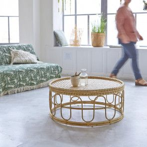 Table Basse En Rotin 80 Samson Naturel Rattan Coffee Table