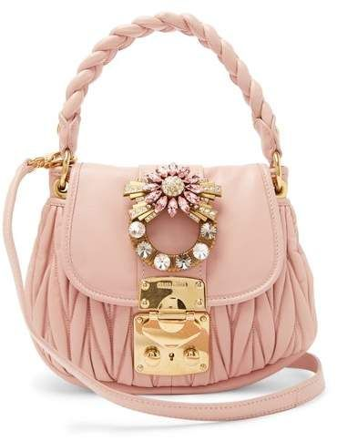 3a2b168a365 Miu Miu - Coffer Mattelassé Leather Cross Body Bag - Womens - Pink ...